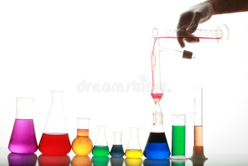 Reagenzglas Szene stockfotografie