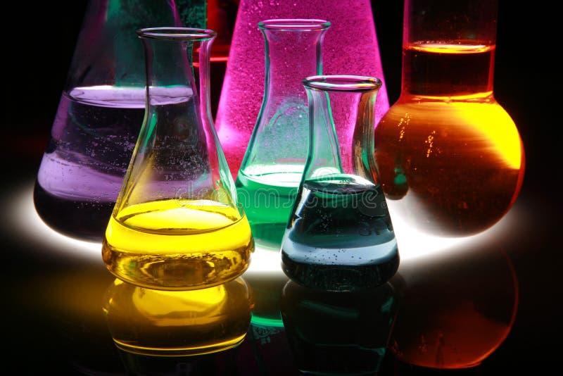 Reagenzglas Szene lizenzfreie stockfotografie