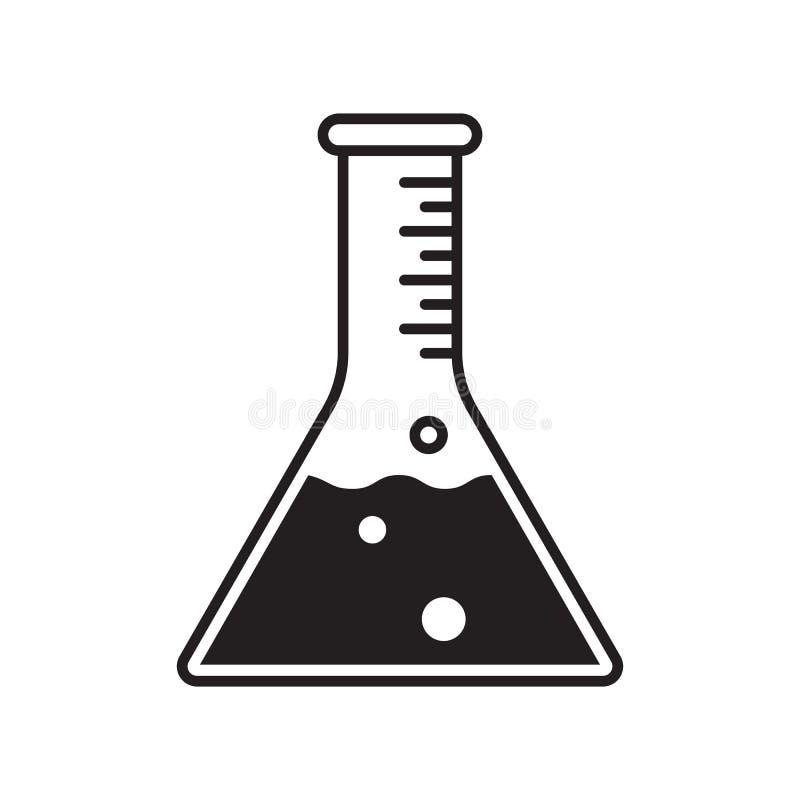 Reagenzglas-Vektorikone Vektor klinisch prüfte, enthält keinen chemischen Laborbecherphiolen-Rohraufkleber vektor abbildung