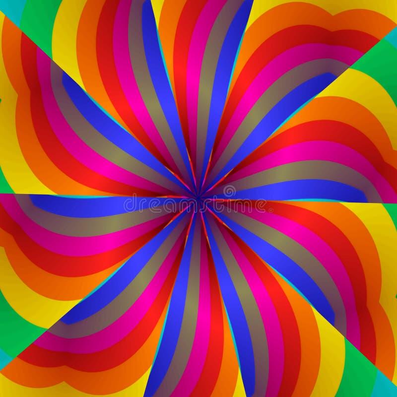 reainbos kaleidoscope иллюстрация вектора