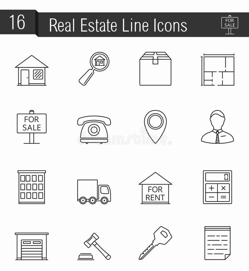 Reak Estate Icons stock illustration