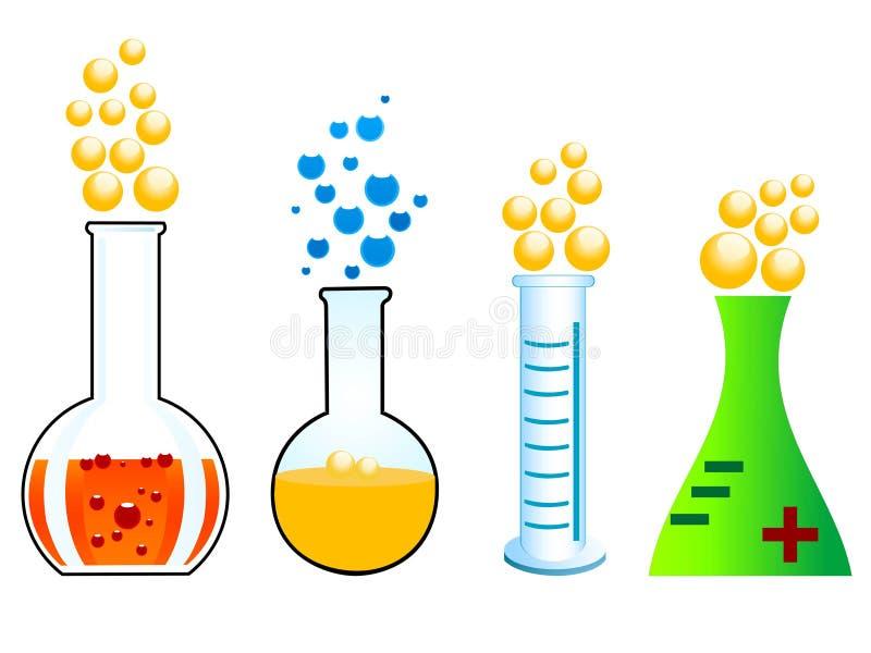 reakcja chemiczna royalty ilustracja