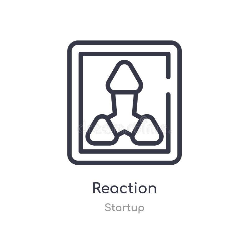 reaktionsöversiktssymbol isolerad linje vektorillustration fr?n startsamling redigerbar tunn slaglängdreaktionssymbol på vit royaltyfri illustrationer