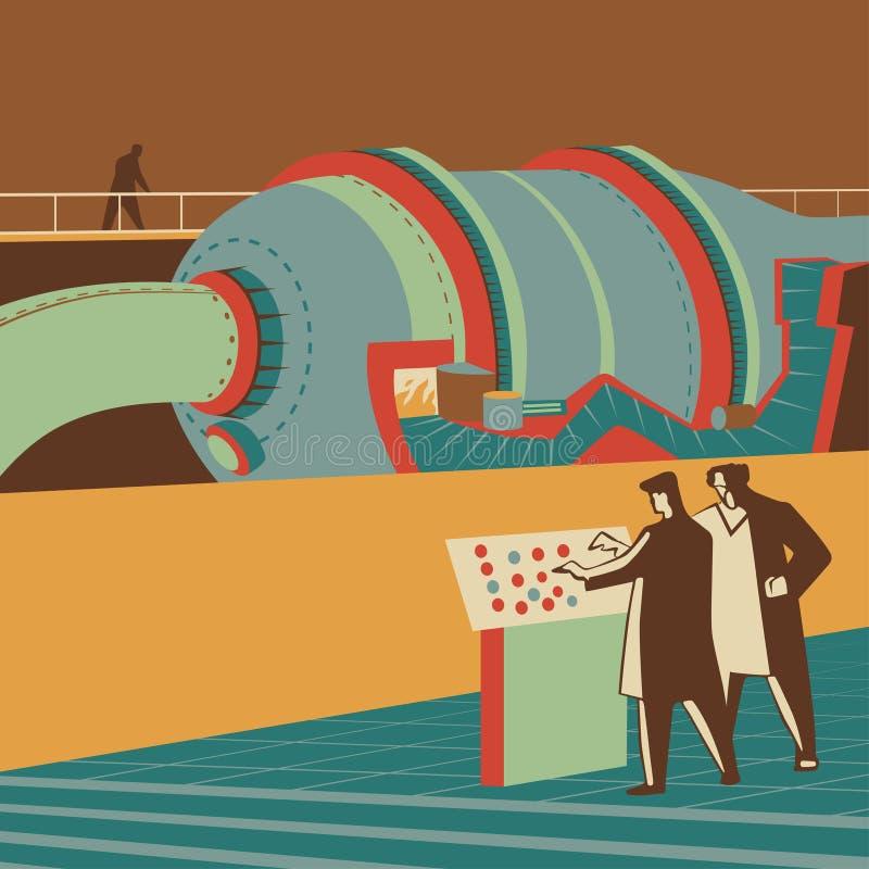 Reaktor stock illustrationer