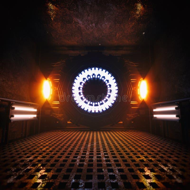 Reaktor-alternative Energie-Kammer stock abbildung
