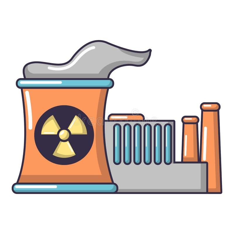Reaktor nuklearny ikona, kreskówka styl ilustracji