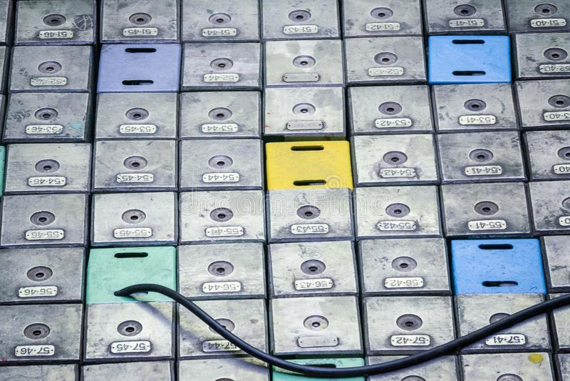 Reaktorraum Kernreaktordeckel, -Ausrüstungspflege und -ersatz der Reaktorbrennelemente stockbilder