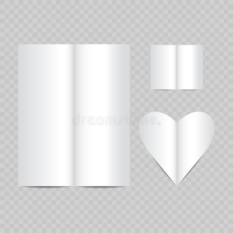 realístico branco do vetor vazio aberto das páginas do compartimento ilustração do vetor