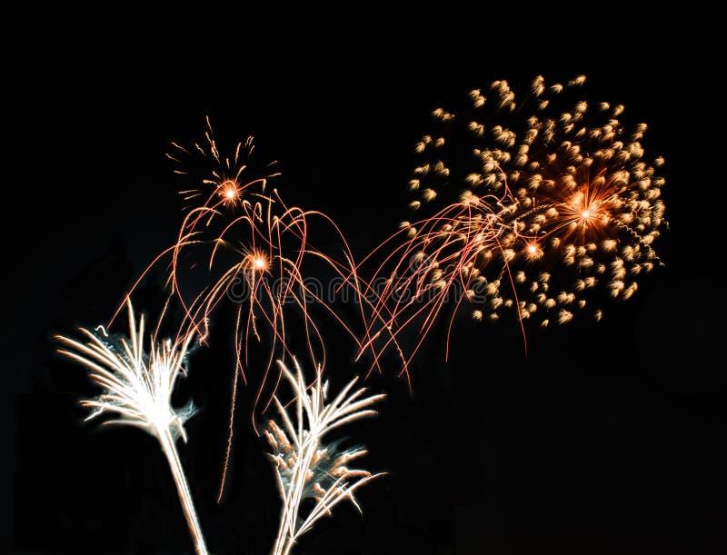 Realów Odosobneni fajerwerki, kwiatu wzór obrazy stock