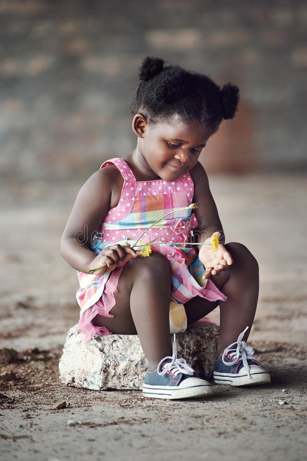 Real african child royalty free stock images