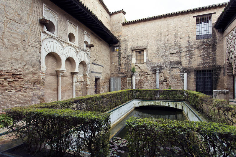 Real Alcazar in Seville, Andalusia royalty free stock image