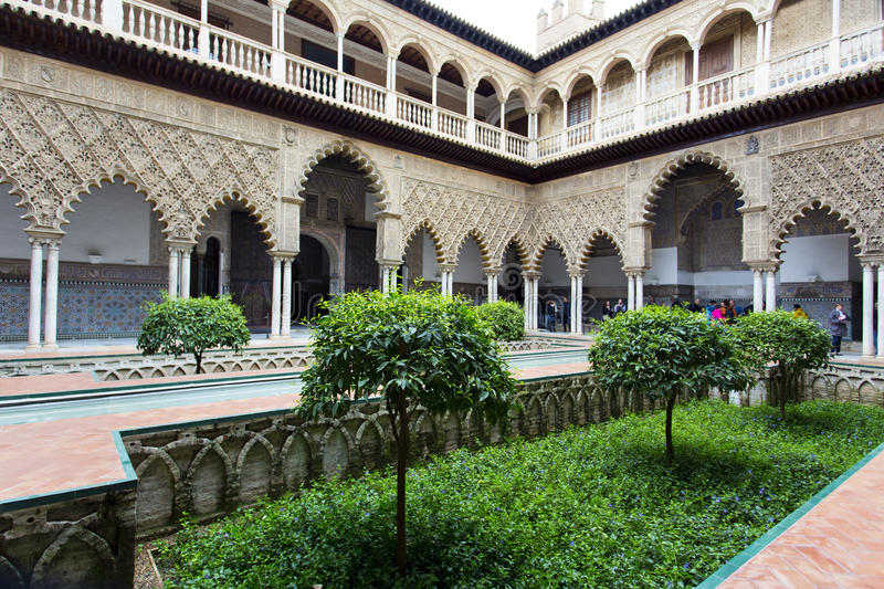 Real Alcazar in Seville, Andalusia stock photography