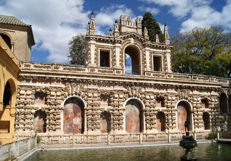 Download Real Alcazar Of Seville Gardens Stock Photo - Image: 25202610