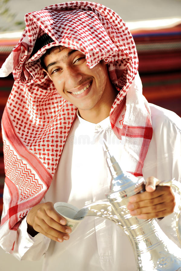 Real arabic coffee royalty free stock photo