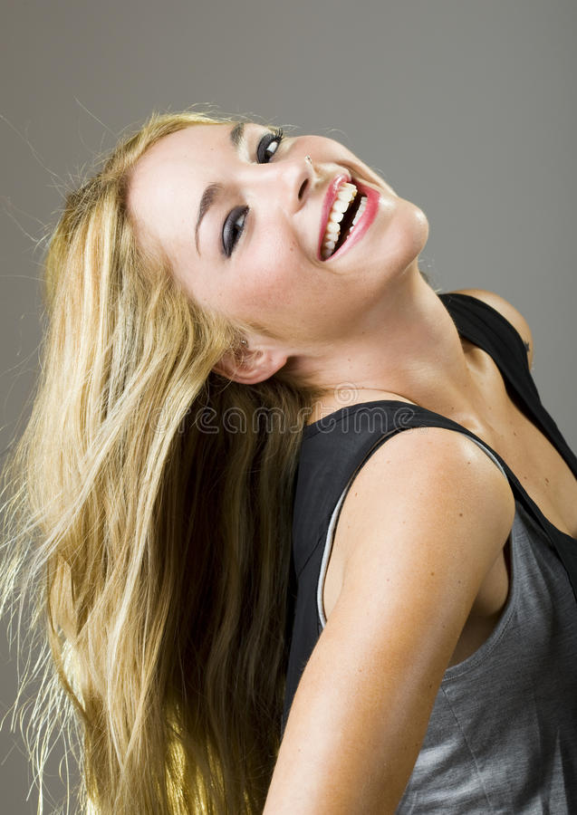 Real Beatuiful Girl Smile Stock Images