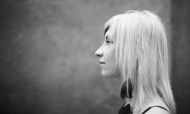 Real Blonde Young Woman Stock Photos