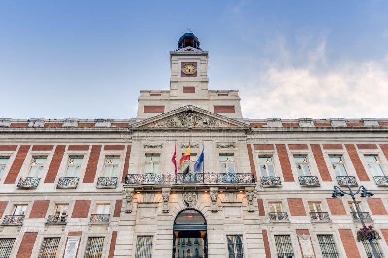 Real casa de correos building in madrid spain stock for Casa correos madrid
