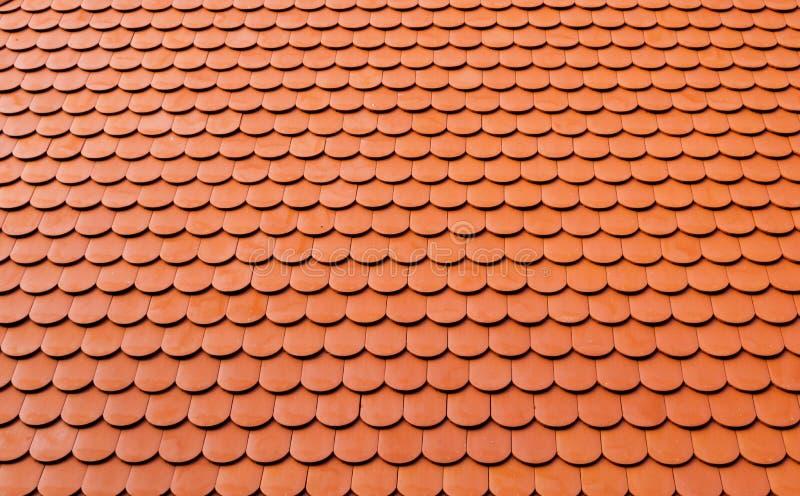 Real ceramic shingle roof tile background pattern.  stock image