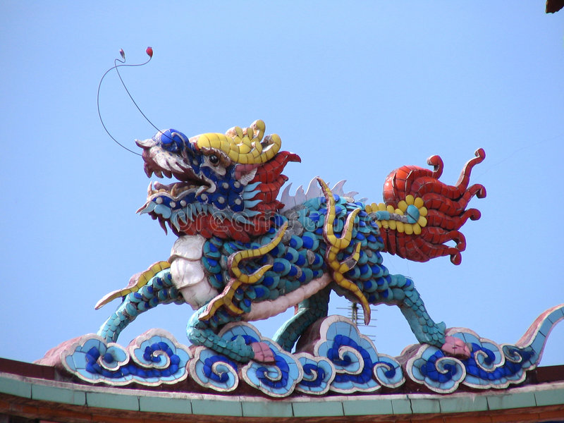 Real Chinese Dragon royalty free stock image