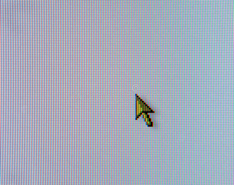 Real computer mouse pointer. On LCD screen stock images