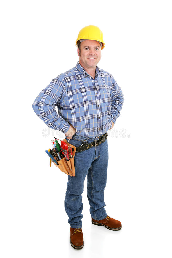 Real Construction Worker - Confident Royalty Free Stock Image