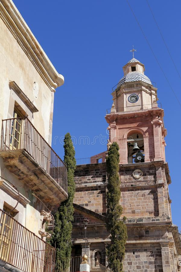 Real de catorce I. Main church of the touristy town of real de catorce located in the mexican state of san luis potosi royalty free stock photos
