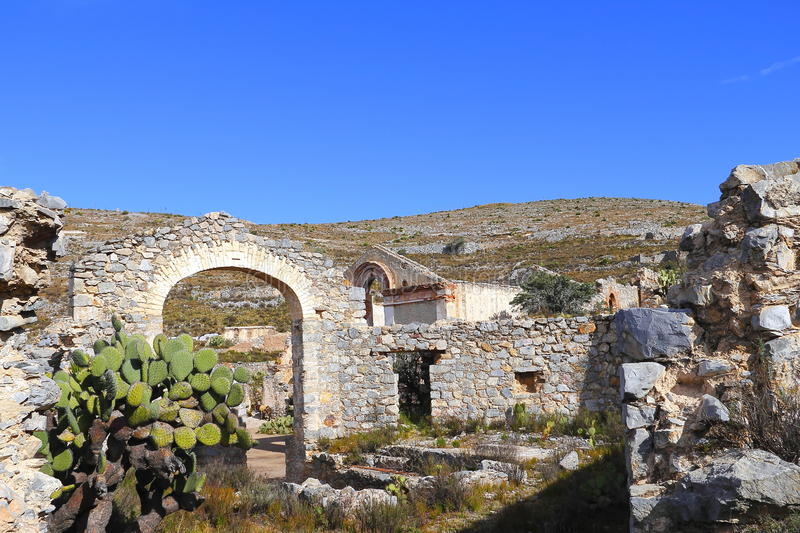Real de catorce XII. Ruins as part of the ancient town of Real de Catorce located in the mexican state of San Luis Potosi royalty free stock photography