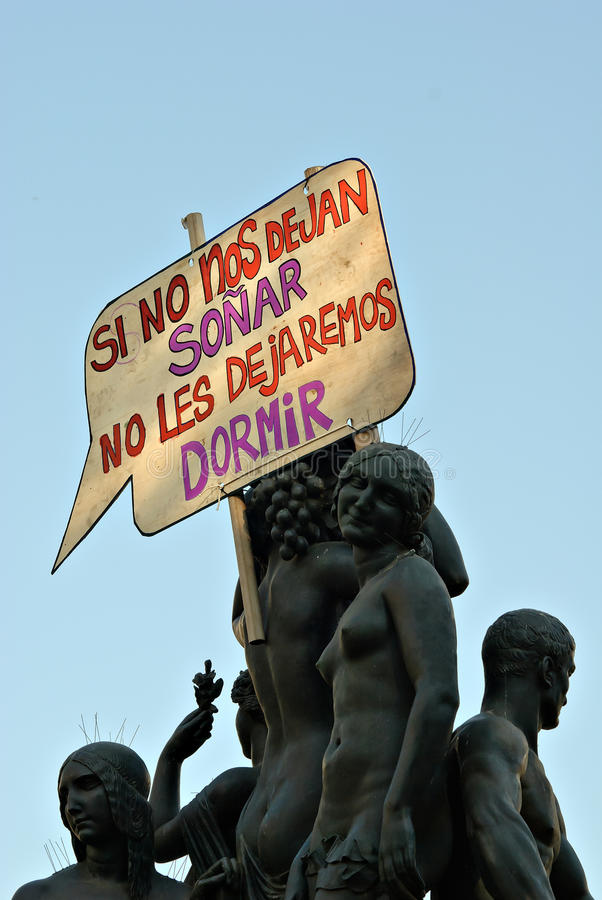 Download Real Democracy Now, Barcelona, Spain Editorial Image - Image: 19614290