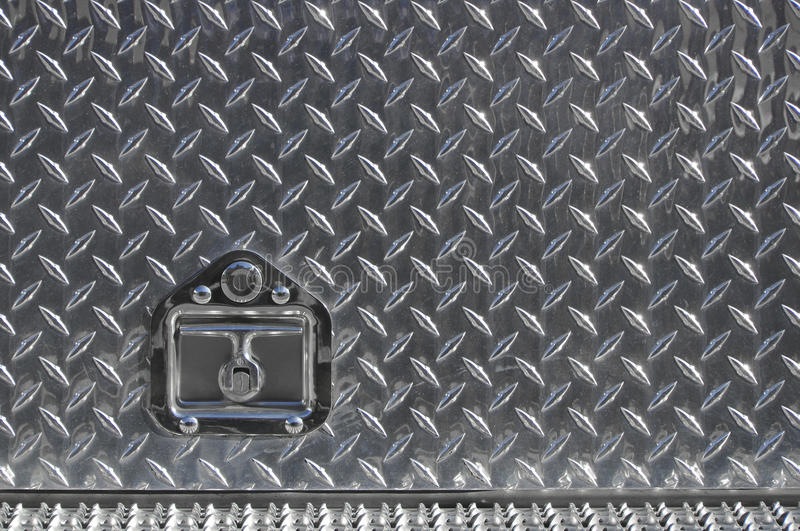 Download Real Diamond Plate With Lock Stock Photo - Image: 28376284