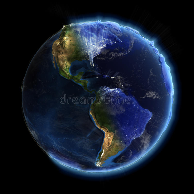 Real earth night and day royalty free illustration