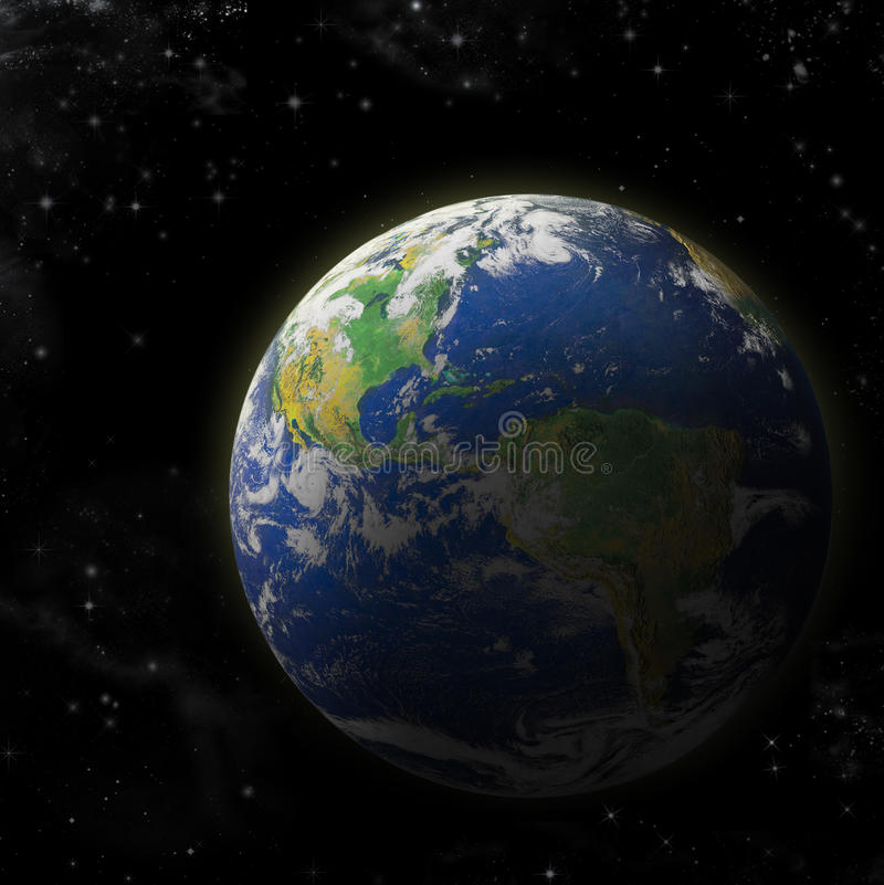 Real Earth Planet vector illustration