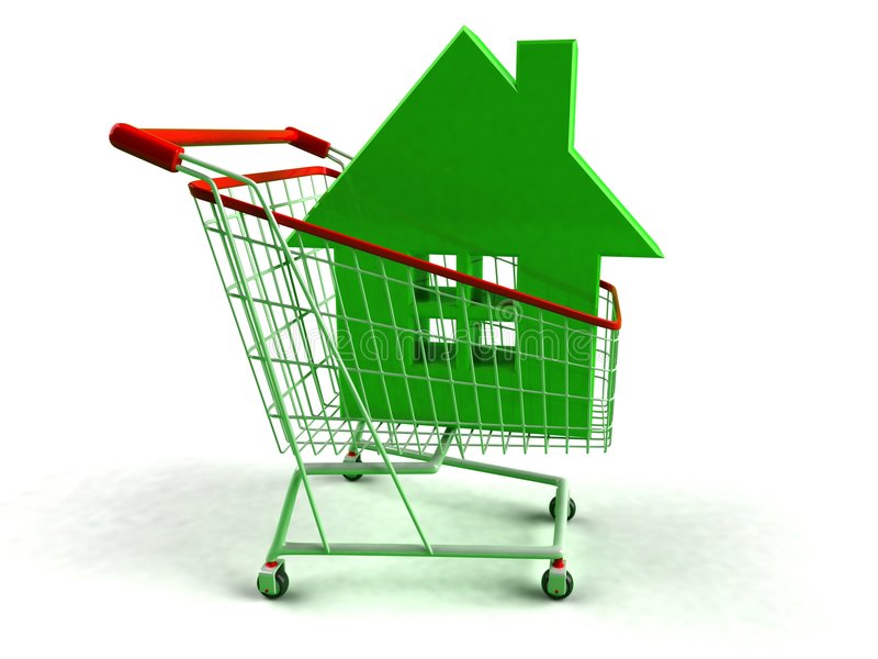 Real estate. For sale ! 3D generated picture stock illustration