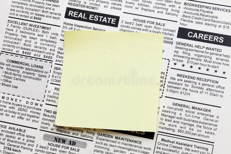 Real Estate-advertentie royalty-vrije stock afbeeldingen