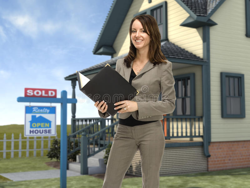 real estate agent stock image  image of customer  female