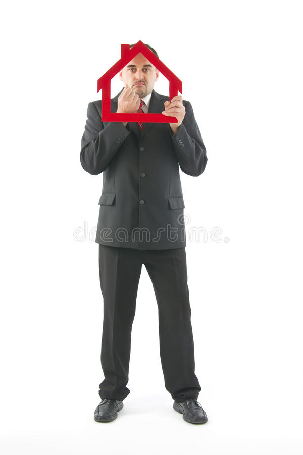 Real estate agent. royalty free stock photo