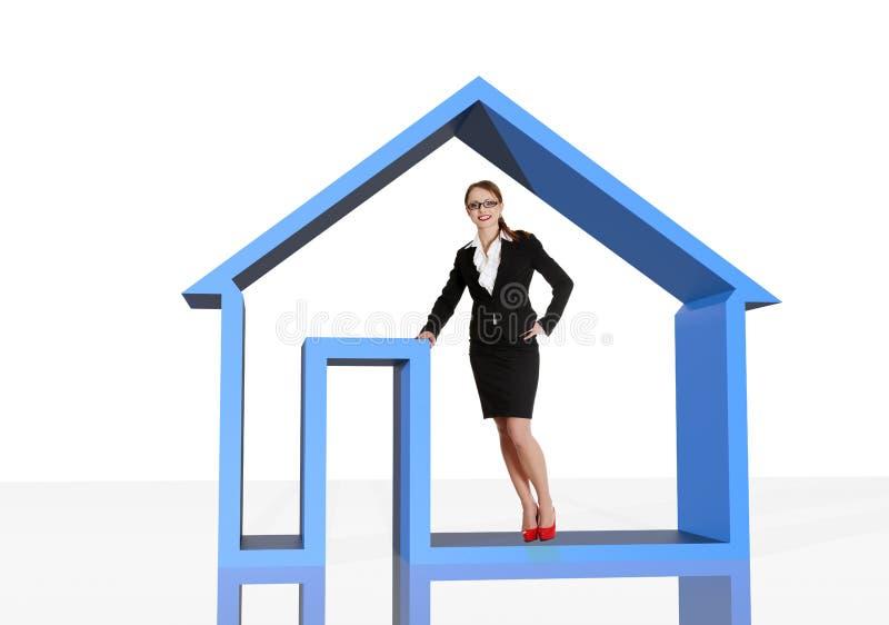 Real estate agent vector illustration