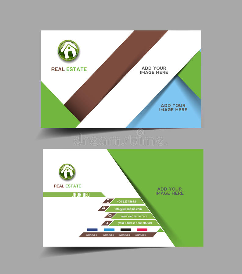 Real Estate Agent Business Card Stock Vector - Illustration of info ...