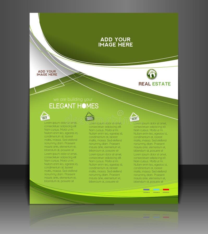 Real Estate Agent Flyer vector illustration