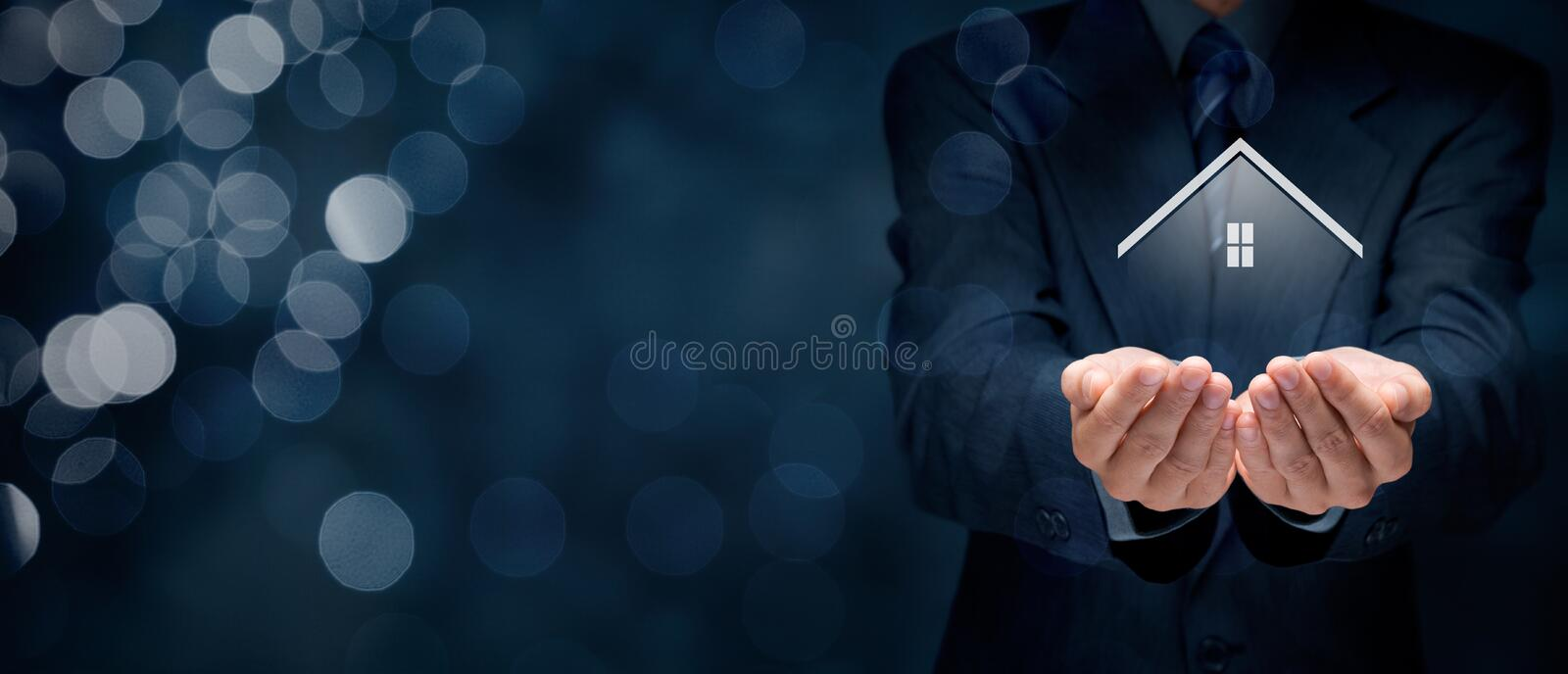 Real estate agent stock photo