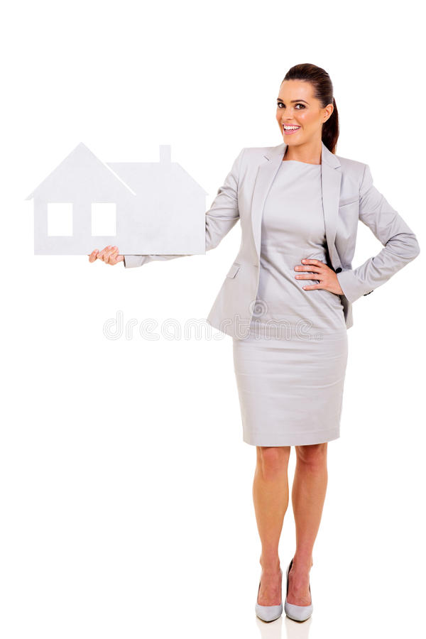 Real estate agent stock image