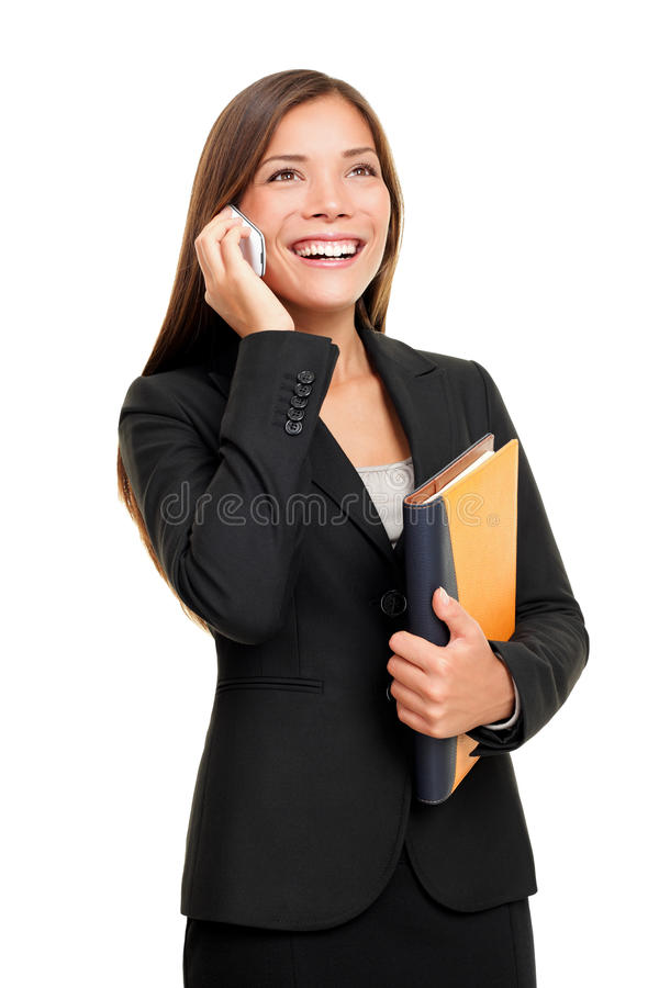 Free Real Estate Agent Talking On Mobile Phone Royalty Free Stock Image - 18317866