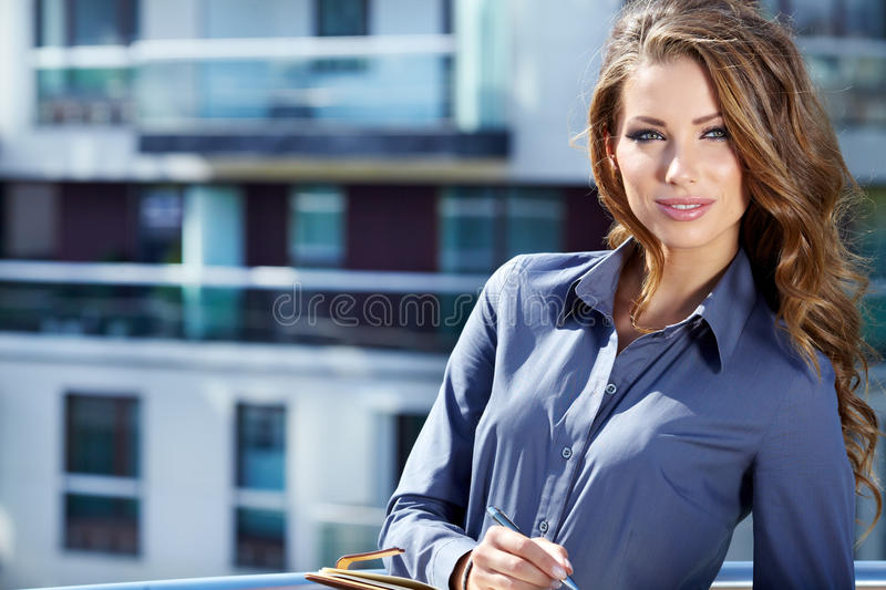 Real Estate Agent Woman. Attractive Real Estate Agent Woman royalty free stock images