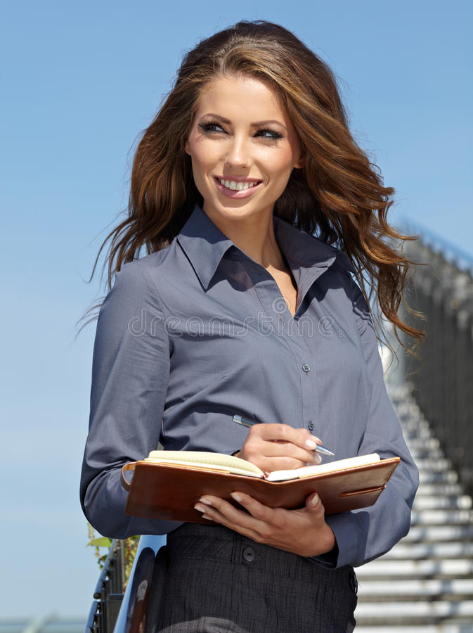 Real Estate Agent Woman. Attractive Real Estate Agent Woman stock images