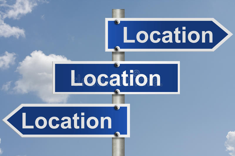 Real estate is all about the location stock image