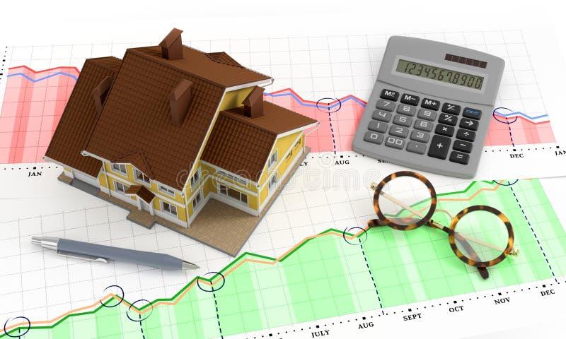 Real Estate analityka ilustracji