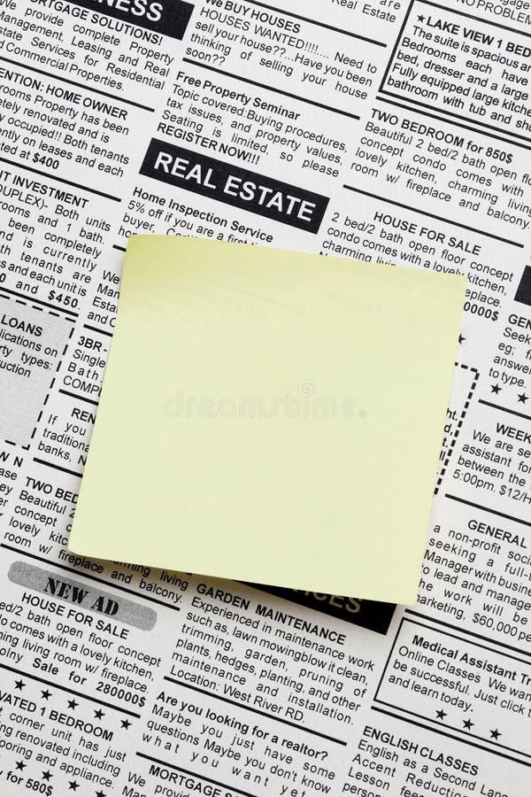 Real Estate-Anzeige lizenzfreie stockfotos