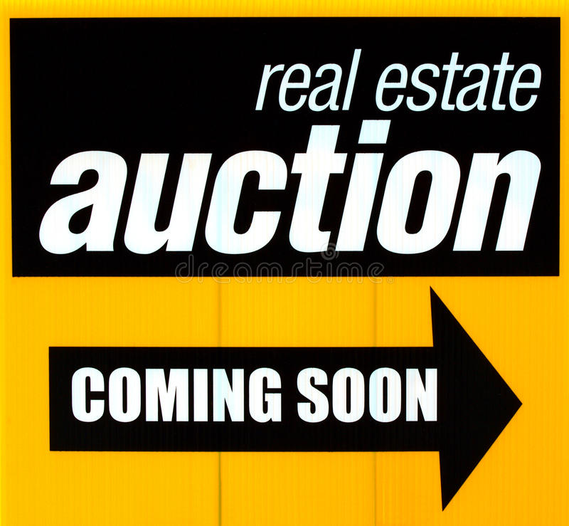 Real estate auction sign