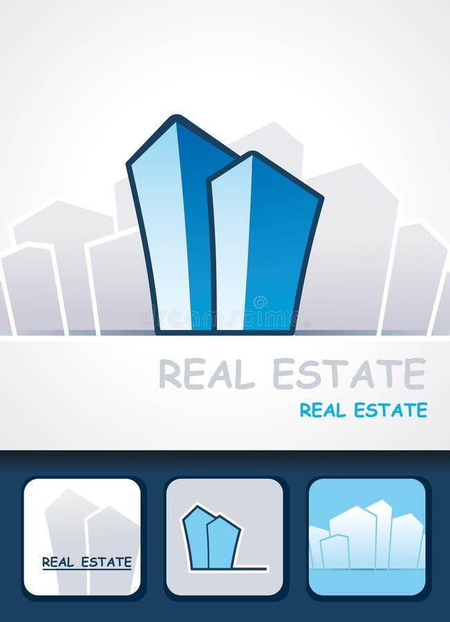 Real estate background vector illustration