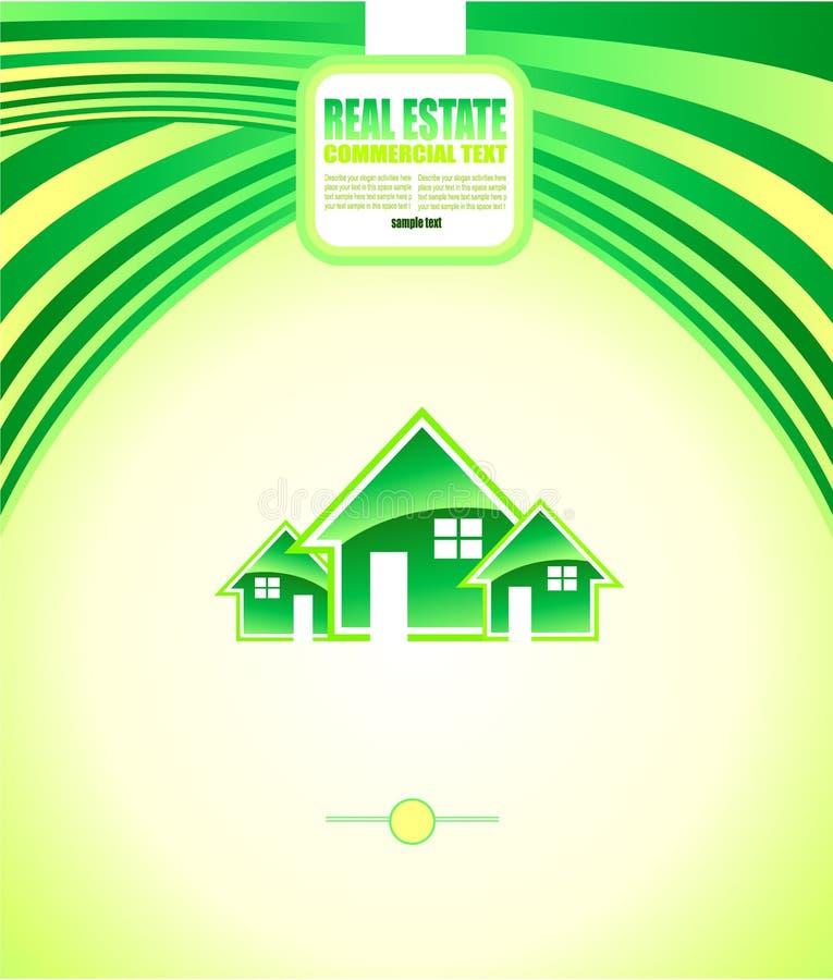 Real Estate Background for Brochures stock illustration