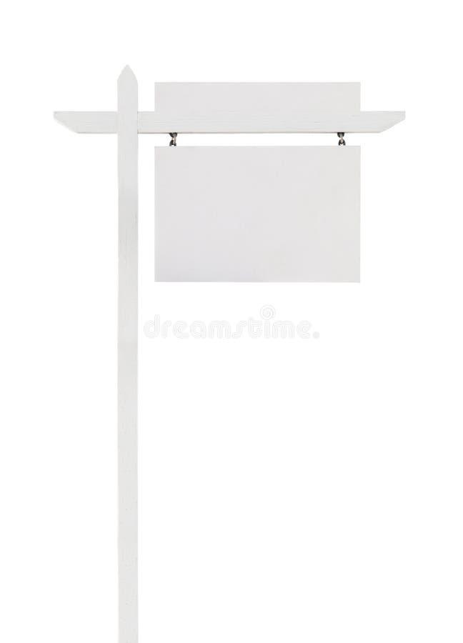 Real Estate in bianco firma con il cartello superiore pronto per il vostro testo fotografia stock libera da diritti